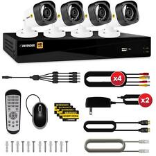 Defender HD 1080p 4 Ch 1TB DVR Security System and 4 Bullet Cameras