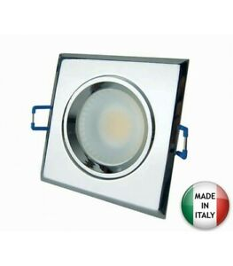 Projecteur-encastre-LED-Carre-5W-3000K-Chrome