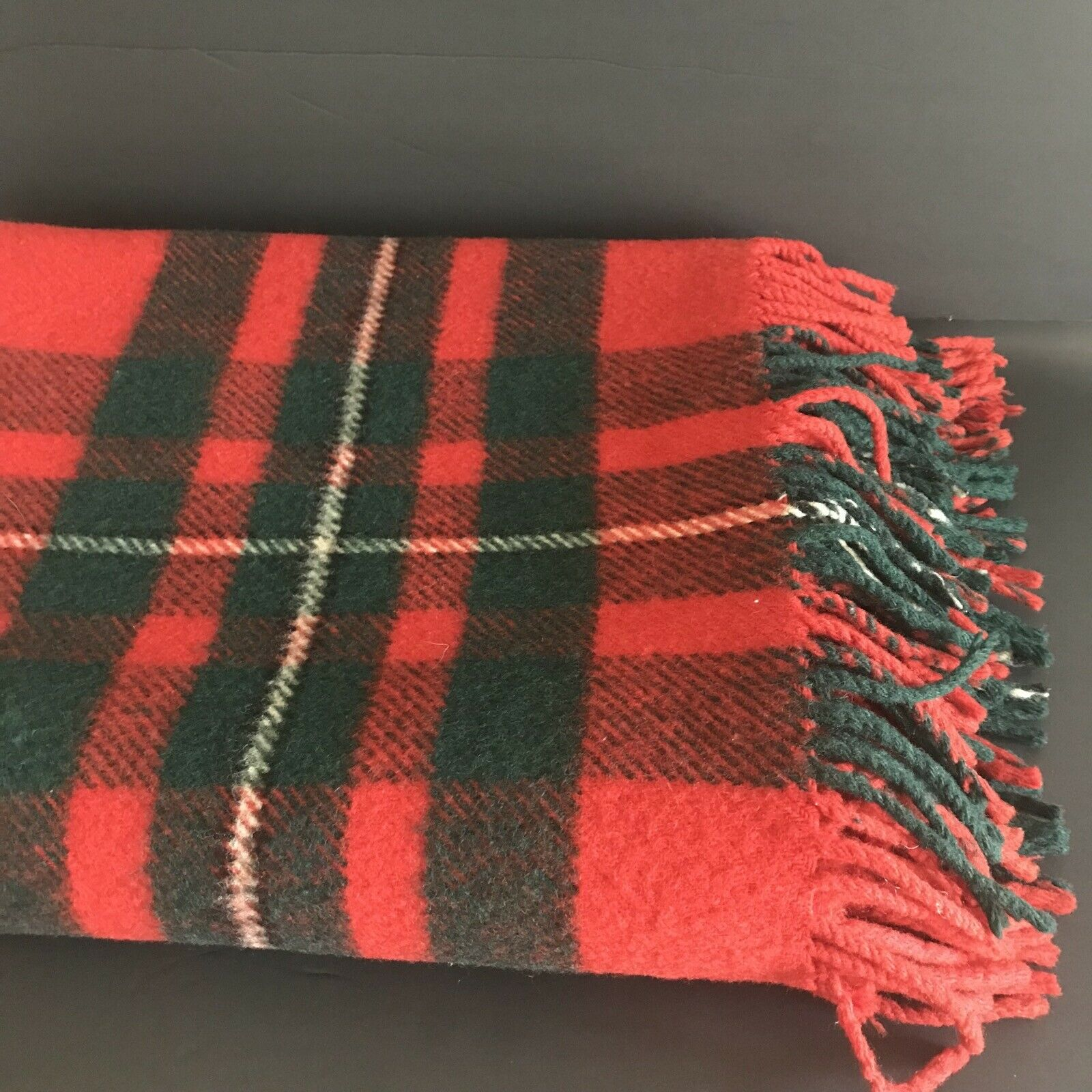 Vtg The Real McGregor Scotland Scottish Plaid Stadium Blanket Throw  56 x 74
