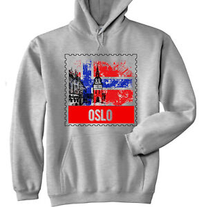 Details about OSLO NORWAY - NEW COTTON GREY HOODIE