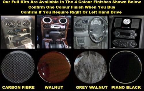 1994-2002 Dash Kit LAND ROVER RANGE ROVER P38 Walnut Piano Black Carbon
