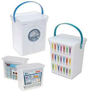 Laundry Clothes Peg Storage Container Dishwasher Tablets Washing