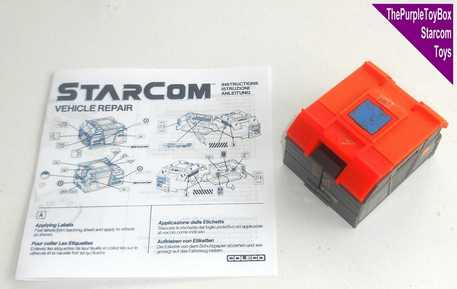 (R020) giocattoli vintage anni 1980 Starcom  Riparazione Riparazione Riparazione di veicoli Bay  Stella COMANDO-FUNZIONANTE 4e534b