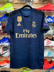 low priced 3c621 a90cb Details about Adidas REAL MADRID 19/20 AWAY JERSEY Champions League Patches  Size Medium