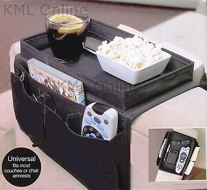 New-Chair-Armchair-Settee-Sofa-Remote-Control-Storage-Holder-Organiser-Tray