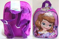Disney Junior Sofia The First Princess Mini Pink Sequin Backpack Book Bag Purse