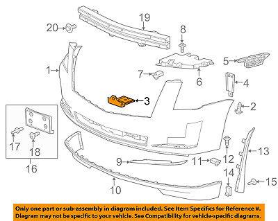 NEW GM LEFT BUMPER BRACKET OEM 12472150