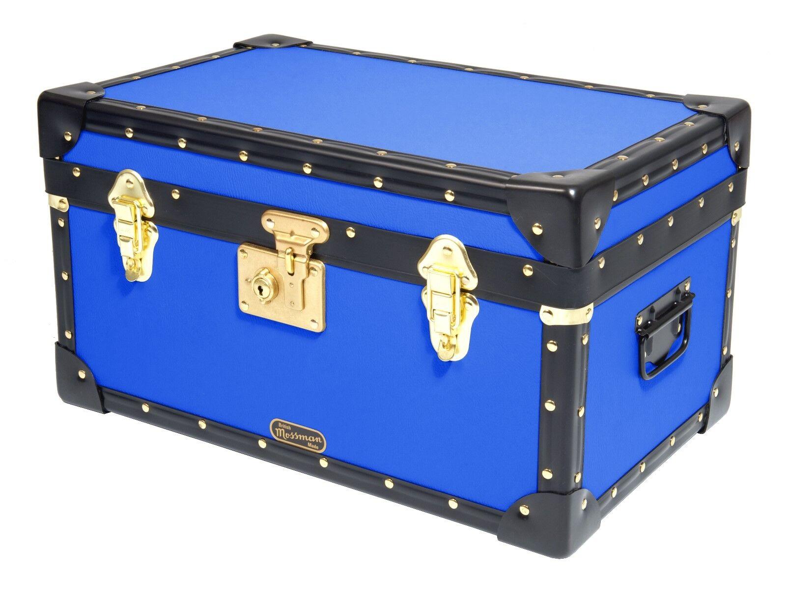 Blue Traditional Traditional Traditional Mossman Pensionnat Tuck Boîte De Conservation Coffre 20