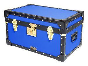 "BLACK Traditional Mossman Boarding School Tuck Box Storage Trunks 20/""x13/""x11/"""