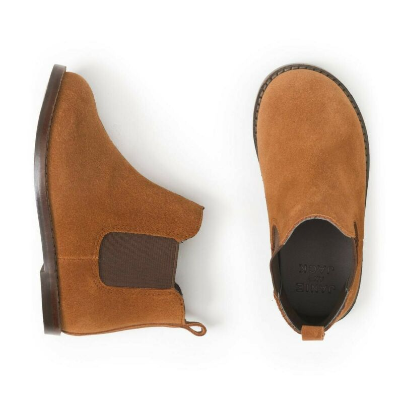 Janie & Jack Boys Leather Chelsea Boot Size 4