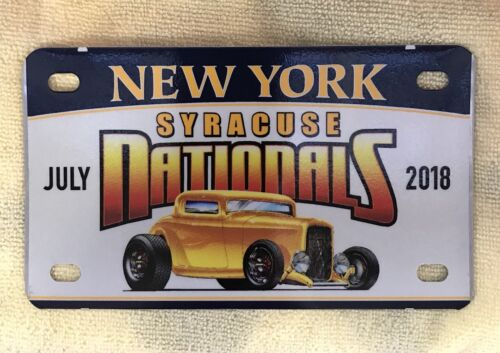 July 2018 SYRACUSE NATIONALS Car Show Mini License Plate
