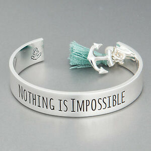 Image Is Loading Silver Nothing Impossible Tel Pearl Anchor Charms