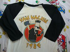 Vintage VAN HALEN 1984 David Lee Roth Raglan Sleeve Concert Tour T Shirt M