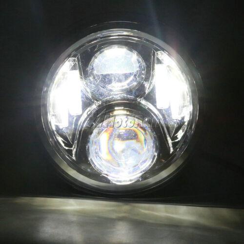 "7/"" LED Black Projector Headlight Hi//Lo Light For Honda CB400 CB500 CB1300 DOT"