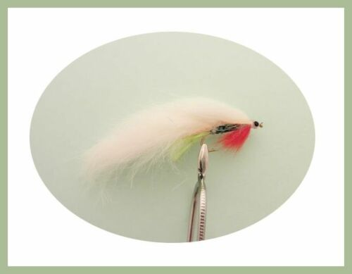 Green Belly Zonkers Three Colours 12 Pack Zonkers Trout Flies Mixed 8//10