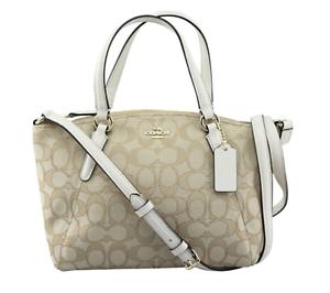 NWT Coach Signature Mini Kelsey Satchel Crossbody Bag Shoulder Bag F57830 Chalk