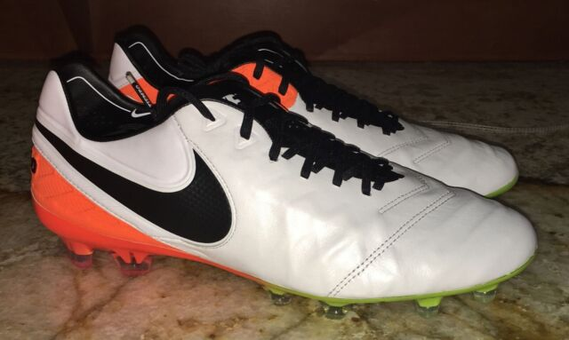 promo code f5c8d ca98c NIKE Tiempo Legend VI FG ACC White Black Orange Soccer Cleats NEW Mens Sz 7  8