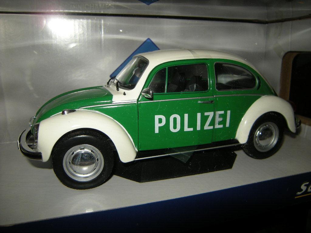 1 18 Solido VW Beetle Police Nº s1800504 en neuf dans sa boîte