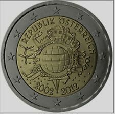 Oostenrijk  2012  2 euro commemo   10 jaar Euro     UNC uit de rol !!!