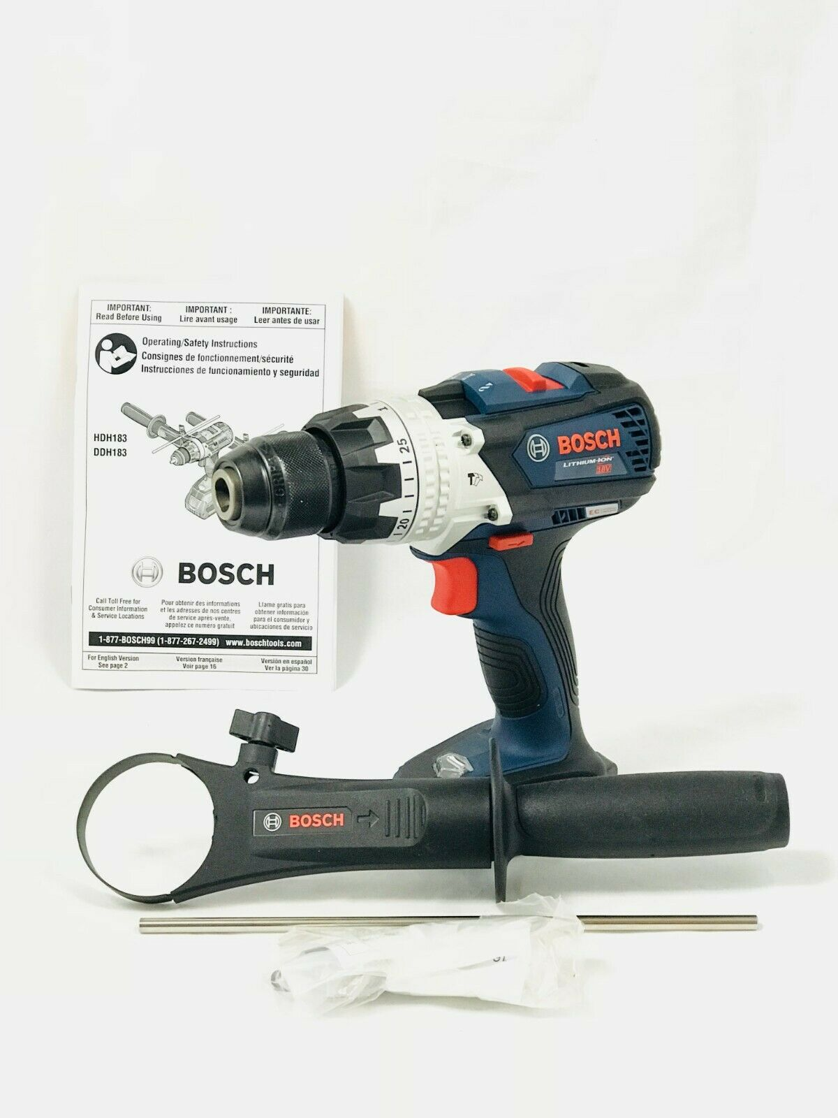 Bosch HDH183B Hammer Drill Driver  18V EC Brushless Brute Tough 1 2 In.