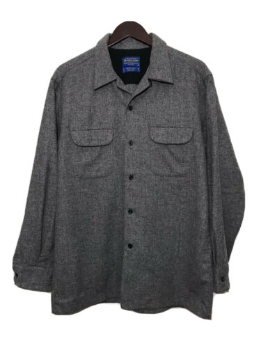 Pendleton Mens Board Shirt Solid Grey Size M Flann