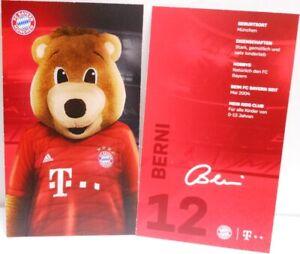 Maskottchen-Berni-Autogrammkarte-2019-2020-FC-Bayern-Muenchen-AK2019097