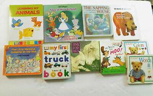 Lot-of-10-Board-Books-Napping-House-Brown-Bear-5-Little-Monkeys-P-B-Bears