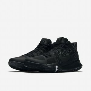 c5e5b8eb15e Nike Kyrie 3 Triple Black Marble 852395-005 Mens All Sizes New DS