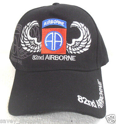 814aae7365cc7 Military Ball Cap 82nd Airborne Army Hat Black for sale online