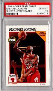 Image Is Loading PSA 10 MICHAEL JORDAN 1991 92 Hoops Team