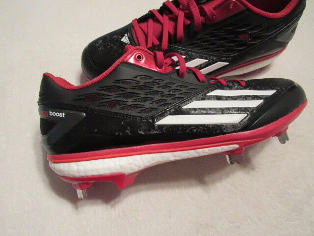 NEW ADIDAS ENERGY BOOST BLACK-RED ICON BASEBALL CLEATS Q16727 BLACK-RED BOOST MEN'S 9 e6dfe5