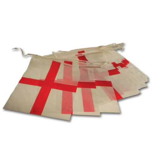 St George Plastic Bunting 12 ft  11 Flags Great For St Georges Day England Flags
