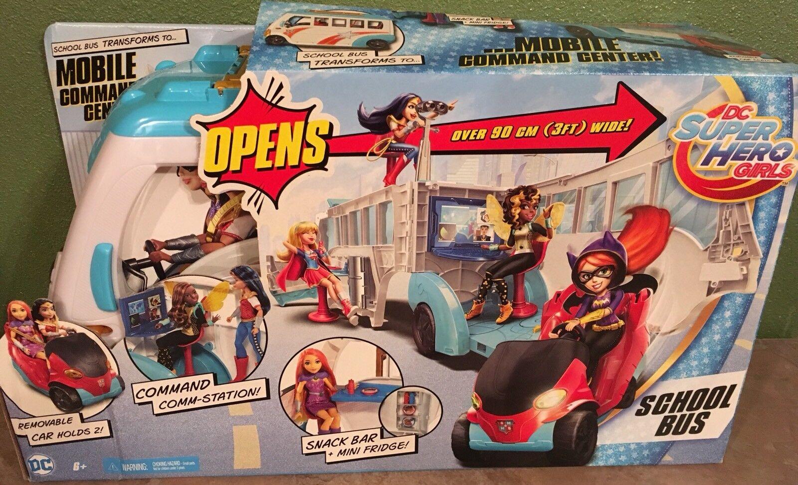 DC SUPER HERO GIRLS Mobile School Bus Bus Bus to Command Center for 12  Dolls NEW 9025ed
