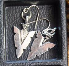 925 sterling silver earrings pewter Arrowhead pendants charm tribal theme