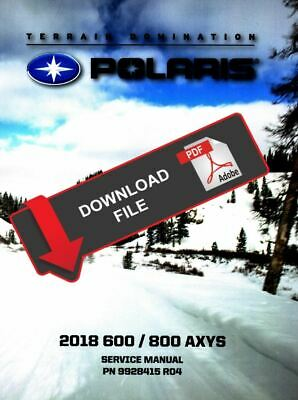 Polaris 2016 Axys 800 Service Manual