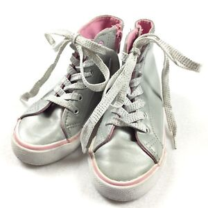 52e28d692903 Piper Gem High Tops Childrens SIZE 11 Toddler Gray Sparkly Sneakers ...