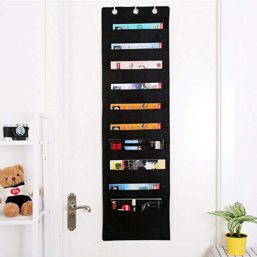 Office School Hanging Wall File Folder Holder 10 Pocket Chart Storage Organizer