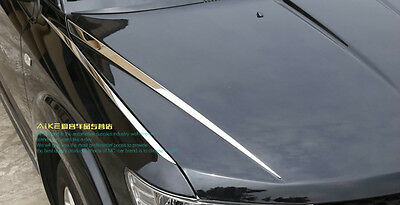 stainless steel front Hood cover trim 4pcs for 2013 2014 Dodge Journey