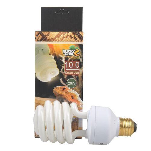 Reptile 10.0 UVB Fluorescent Desert Terrarium Lamp,Compact Bulb,13 Watt,26 Watt