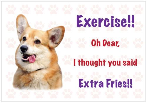 Funny WELSH CORGI Dog Vinyl Car Van Decal Sticker Pet Animal Lover