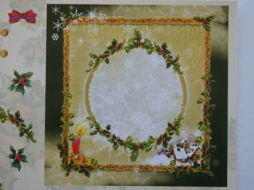 elección de 2 Hoja De Relieve Navidad Decoupage