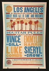 2019 Hatch Show Print Guitar Pull Sept 17 Los Angeles Luke Combs Vince Gill Crow
