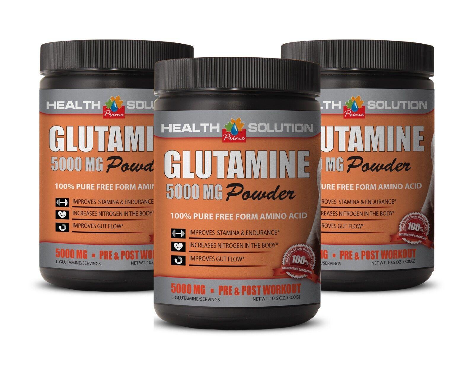 Muscle supplements - GLUTAMINE POWDER 5000MG 3B - l-glutamine life extension
