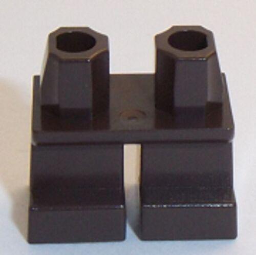 Lego jambes courtes marron foncé x 1 pour figurine