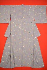 Vintage-Japanese-Silk-Antique-BORO-KIMONO-Kusakizome-Dyde-Textile-VQ68-600