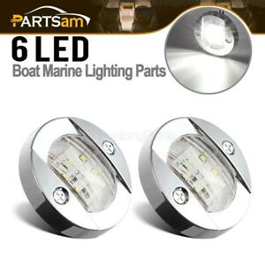 2x-Marine-Chrome-LED-Transom-Navigation-Stern-Light-Mount-Boat-Round-Anchor-IP67