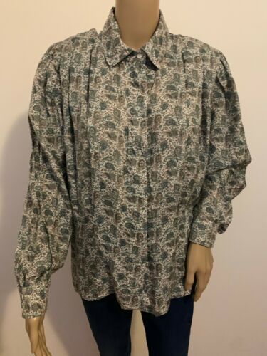 Vintage BETTY BARCLAY silk paisley blouse