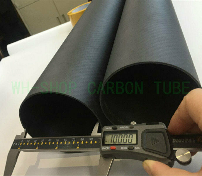 Roll Wrapped Wrapped Wrapped 3k autobon Fiber Tube OD 80 84 90 94 100 104 114 mmX 500mm (2.0wtutti) 188bb0