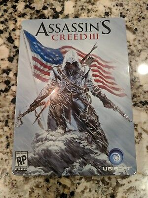 Assassin S Creed Iii Collector S Edition Tin Metal Case Ps3 Video