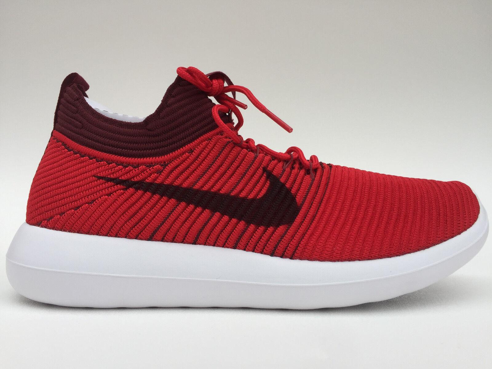Para hombres Nike Roshe dos Flyknit V2 Zapatillas Tamaño 9.512 Rojo V2 Flyknit (918263 600) 46438d